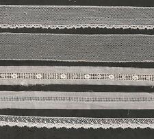 RARE LOT DENTELLES ANCIENNES LIN TULLE RESTAURATION COIFFE BAVOIR POCHETTE