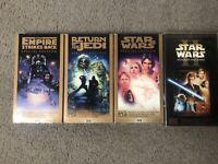 Star Wars Bulk Lot X4 Collectors Vhs Tapes Cardboard Sleeve Videos