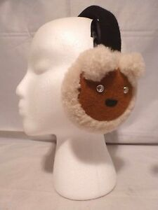 NEW COACH BEAR MOTIF Shearling Earmuffs With Sparkling Gift Box 77731