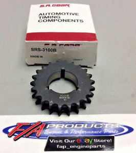 Chevy Small Block 3 KeyWay Double Row Crankshaft Timing Gear S.A. Gear SRS-3100B