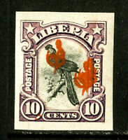 Liberia Stamps # 49 NH triple ovpt scarce