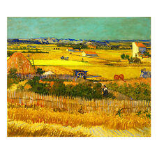 Canvas Print Picture Wall Art Van Gogh Painting Repro Home Decor Harvest Framed