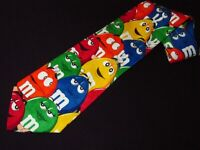 Ralph Marlin Tie M&Ms Candy Characters Novelty RM Style Necktie Vintage Mens
