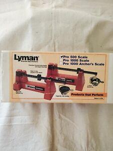 Lyman Pro 500 Scale 500 gram capacity includes powder pan