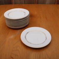 12 Mikasa Stanton 5405 Salad Plates Gold Flowers