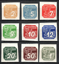 Germany / Bohmen und Mahren - 1939 Newspaper stamps / Dove Mi. 42-50 MH