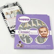 Boppy Pillow Cover Slipcover Baby Classic Gray Giraffe & Udder Nursing Cover New