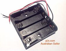 Battery Box Holder Case For 4 x AA with Leads Electronics Hobby