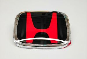 HONDA RED BLACK CIVIC ACCORD FRONT OR REAR GRILLE BADGE EMBLEM TYPE R EP2 EP3