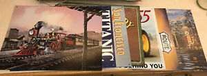 LOT OF 7 ROUTE 66, TRAIN, TRACTOR, SF,  GAS STATION, TITANIC, WOODY, INDIAN SALE