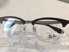 NEW! RayBan RB7112 Men's Plastic Eyeglass Frame 5685 Brown Crystal - Authentic!