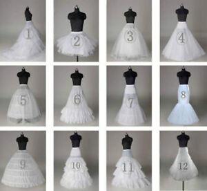 2021 Neu Petticoat Unterrock Kleid Unterkleid Reifrock Ringe Brautkleid Weiß HOT