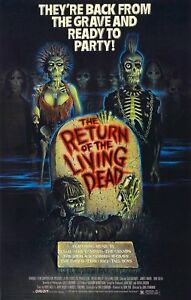 Framed Retro Movie Poster - the Return of the Living Dead (Replica Print Horror)