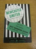 12/04/1968 Newcastle United v West Bromwich Albion  (Creased, team changes). Tha