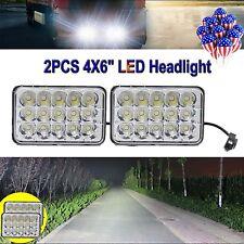 "New 4X6"" LED Headlights CREE Light Bulbs Crystal Clear Sealed Beam Headlamp Pair"