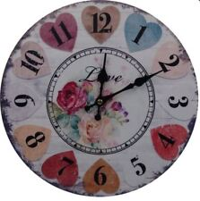 Decorative Fine Wooden Wall Clock (Love)