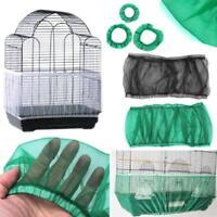 Nylon Mesh Pet Bird Cage Seed Catcher Guard Cover Shell Skirt Decoration Net MP