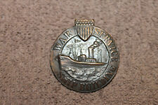 Original WW1 U.S. War Service Ship Building Bronze Badge, Numbered w/Pin