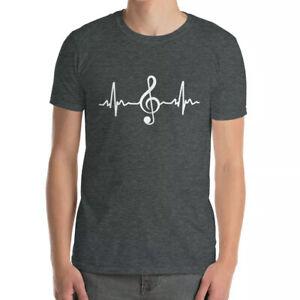 Cool T-Shirts DJ Treble Clef Heart Beat Pulse I LOVE MUSIC Life T-Shirt Gift