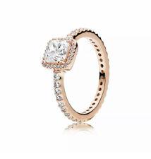 Pandora Rose Gold Ring 180947CZ Timeless Elegance Ring Size 6/52mm