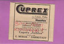 DARMSTADT, Werbung 1926, E. Merck CUPREX farblos gegen Läuse Flöhe
