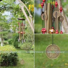 Antique 4 Tubes 5 Bells Copper Yard Garden Outdoor Living Home Wind Chimes 65cm