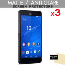 3 Pack of ANTI GLARE MATTE Screen Protector Guards for Sony Xperia Z3 Compact