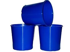 6 Blue Offering Buckets, Ice Buckets Holds 176 Ounces Mfg. USA Lead Free