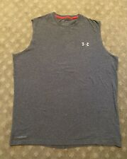 Under Armour Mens Heat Gear Loose Fit Gray Tank Top L Large