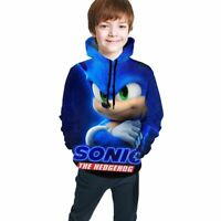 Sonic the Hedgehog Movie Manga Kids Youth Pullover Casual Hoodies Sweatshirts