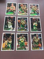 1994-95 Fleer Basketball Team Set: Seattle Supersonics