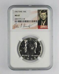 1967 MS67 SMS Special Mint Set Kennedy Half Dollar NGC Graded *010
