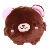 Bear Plush Doll Kawaii Stuffed Animal Soft Fuzzy Squishy Brown Japanese 4 Inches
