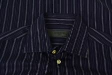 Givenchy Men Dark Blue Light Striped Button Up Dress Shirt Sz 15 32/33
