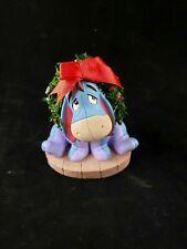 Disney Eeyore Figure with Christmas Wreath Winnie The Pooh Holiday