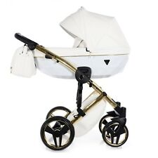 Limited Junama Diamond Individual Line Gold White Baby Pram Pushchair