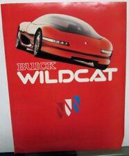 1985 Buick Wildcat Concept Car Brochure Dream Car Handout Folder