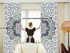 Indian Handamde Ombre Mandala Cotton Curtains Ethnic Wall Hanging Door Curtains