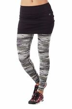 Zumba Treaded Skirt Legging Exercise Fitness Yoga Pants - Smoke Black Gray Sz XS