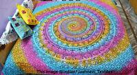 Tie Dye Duvet Doona Hippie Rainbow Mandala New Quilt Two pillow Cover Blanket