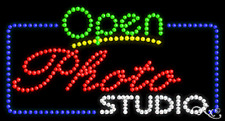 "New ""Open Photo Studio"" 32x17 Solid/Animated Led Sign W/Custom Options 25555"
