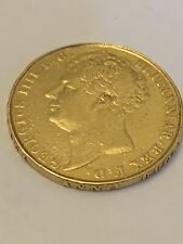 More details for 1823 double sovereign two pound 22ct gold george iv plain edge inscribed. rare