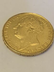 1823 Double Sovereign Two Pound 22ct Gold George IV Plain Edge Inscribed. Rare