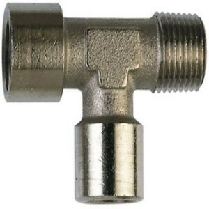Nickel Plated Offset Equal Tee Female Threaded BSPP x Male Threaded BSPT