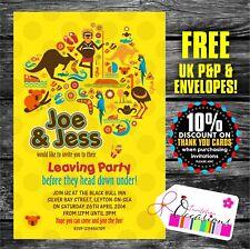 Invitaciones Fiesta Personalizadas dejar emigrar a Australia X 5