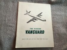 Vickers Vanguard airliner original brochure