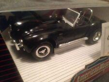 1:18 Ertl American Muscle Black Shelby Cobra 427 SC Item 7580 Series #1
