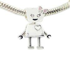 Bella Bot Robot Plata de Ley 925 Androide Automata