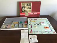 Vintage 1964 Parker Brothers MONOPOLY Board Game Red Box Complete