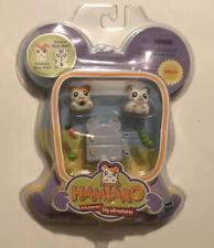 HAMTARO Ham-Ham and OXTARD Ham-Ham HAMSTER Figures with Food and Refridgerator A
